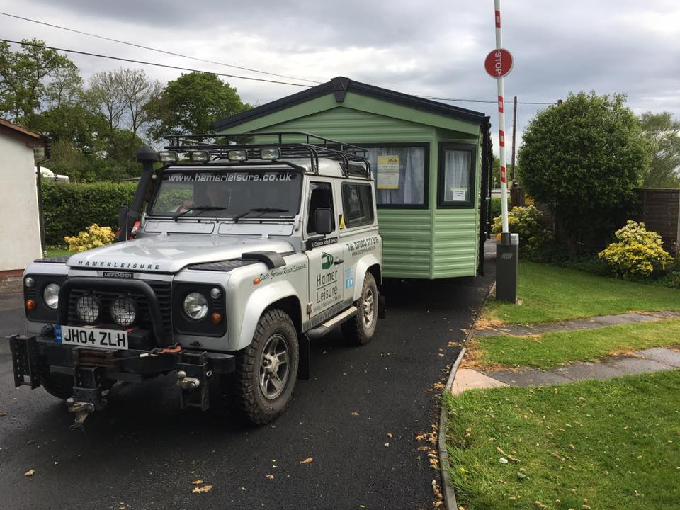 Luxury Twin Unit Caravan Siting Emstrey Shrewsbury